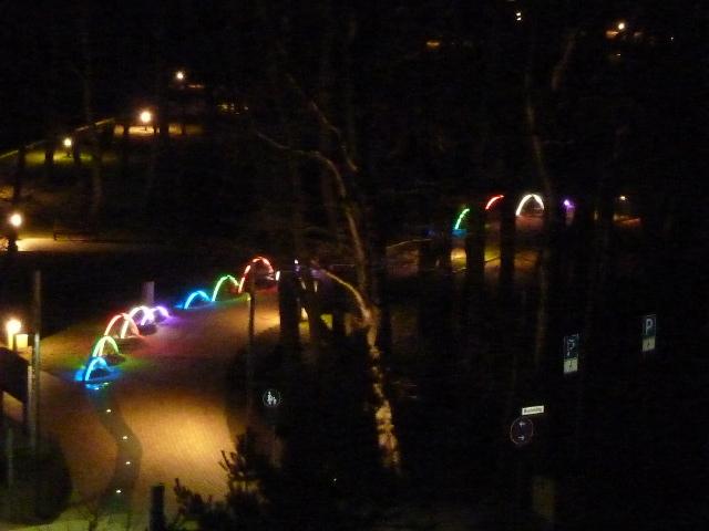 Der Kurpark bei Nacht