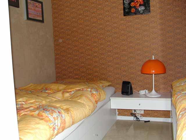 Schlafbereich für Große mit zwei Einzelbetten, je 200x90 cm